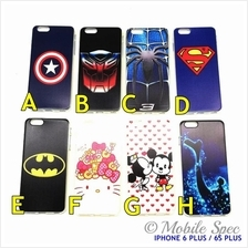 Apple iPhone 6 Plus 4.7' 5.5' Hot Cartoon TPU Transparent Soft Case