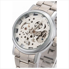 Cross Skeleton Design Unisex Manual Winding Mechanical S.steel Watch