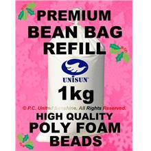 HIGH QUALITY 1kg BEAN BAG REFILL (POLY FOAM BEADS Balls) Best Filling