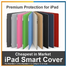 APPLE iPad 2 3 4 Air Mini 1 2 3 Smart Cover 2 in 1 Slim Case AutoOnOff