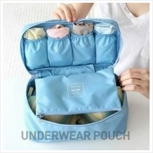Korean Monopoly Travel Underwear Pouch Bra Organizer Storage Bag