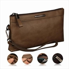 MEN Premium Genuine Leather Wallet Bag Pouch Purse Clutch Bag
