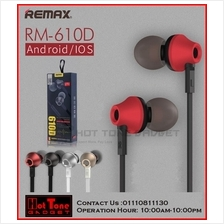 [ORI] REMAX RM 610D Stereo Headset Headphone Earphone Mic Vol Control