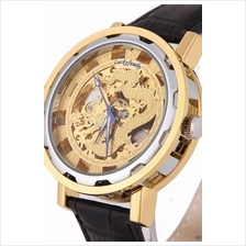 Dragon Gold 2 ToneDesign Roman Marker Unisex Automatic Mechanical leat