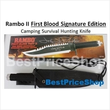 Rambo 2  1st Blood Signature Edition Camping Survival Hunting Knife II