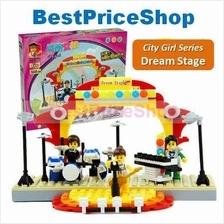 LEGO compatible - Dr Luck City Girl Dream Stage  Education brick games