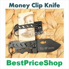 Pocket Folding Knife Money Clipper: camping tools clip