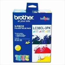 Brother LC-38 Color Value Pack Ink (Genuine) 145 165 195 250 255 290