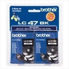Brother LC-47 Black Twin Pack Ink (Genuine) 115 215 3240 425 5840 620