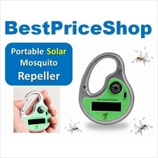 Portable Solar Repeller Ultrasonic Mosquito Insect w/ compass outdoor