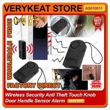 Wireless Security Anti Theft Theif Touch Knob Door Handle Sensor Alarm