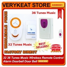 32 36 Tunes Music Wireless Remote Control Alarm Doorbell Door Bell