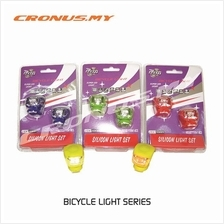 [CRONUS.MY] BICYCLE SILICON LIGHT BRIGHT RED WHITE LED WATERPROOF