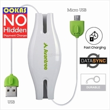 Avantree Viva Micro USB 2.0 Retractable Cable Sync Charging Android
