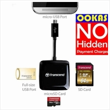 TRANSCEND OTG MicroSD/SD/USB Flash Card Reader RDP9 On-The-Go