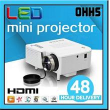 [1 Year Warranty ] OHHS UC28+ Mini LED Projector HDMI VGA USB