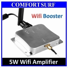 2.4GHz Wireless 5W Wifi Signal Booster Broadband Amplifier + Antenna