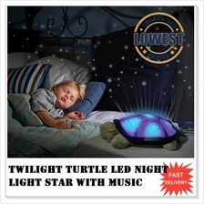 Twilight Turtle LED Night Light Star Lamp + Music + Usb cable