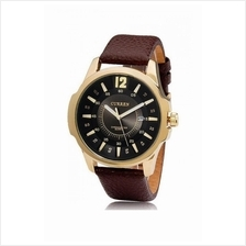 Curren Men's Brown Leather Strap Watch 8123