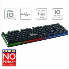 CLiPtec BLACK-NEO USB LED Illuminated Keyboard RZK290