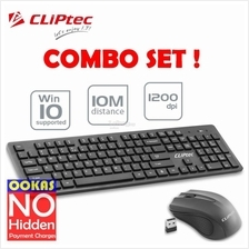 CLiPtec DAILY AIR Wireless Multimedia Keyboard Mouse Combo Set RZK338