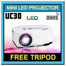 [ 1 Year Warranty ] OHHS UC30 Mini Portable LED Projector