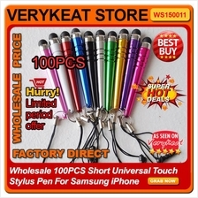 Wholesale 100PCS Short Universal Touch Stylus Pen For Samsung iPhone