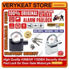 100% Original KINBAR 110DBA Siren Alarm Padlock Lock Locker Anti Theft