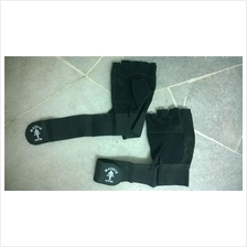 Matrix Leather Glove With Wrist Wrap (Sarung Tangan Fitness Sport Gym)
