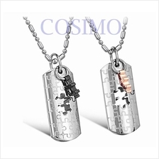 Couple Necklace Lovers Stainless Steel Pendant - Love Puzzle one pair