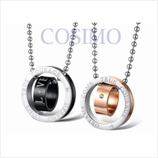 Couple Lovers Stainless Steel Pendant Necklace - Courage & Dreams