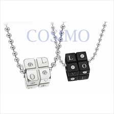 Couple Lovers Stainless Steel Pendant Necklace - Love Dice one pair