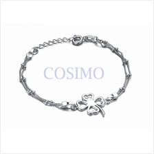 Fashion White Gold Plated Anklet Foot Chain Four Leaves Clover