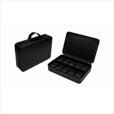 10 Slots Unique Watch Storage Travel Suitcase [Carbon Fiber]