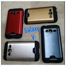 samsung galaxy V motomo ino metal case + option tempered glass RM6