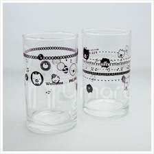 Music Notes Sweet Little Pig Small Glass