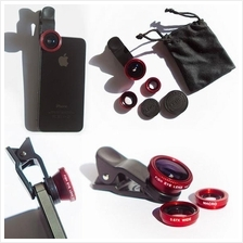 Universal Clip 3 in 1 Phone Camera Lens Fish Eye+Wide Angle+Macro Lens