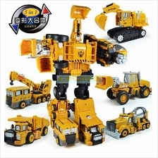 Metal Genuine Transformer Robots Engineering Truck 5 In 1 Transformers