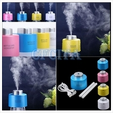Portable USB Mini Water Bottle Caps Humidifier Air Diffuser Aroma Mist