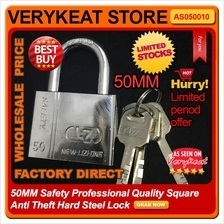 50MM Safety Professional Quality Square Anti Theft Hard Steel Lock