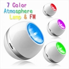 Multi Color LED Mood Light with Speaker, FM Radio, AUX IN