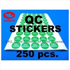 250 pcs. QC STICKER 15mm ROUND GREEN Best Used with Fragile Stickers