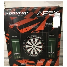 Dunlop 18 Inches Dart Board + Cabinet + 6 Darts (Highest Quality)