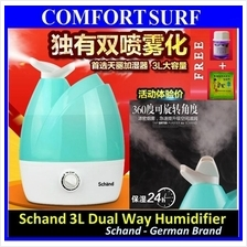 Schand Dual Head 3L Tank Capacity Ultrasonic Air Humidifier Purifier