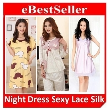 Night Sleeping Dress Suit Skirt Nightwear Sleepwear Nightclothes