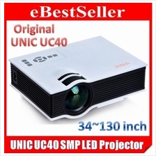 ORIGINAL UNIC UC40+ LED Projector 800 Lumens 130' Super Bright UC30