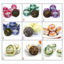 9pcs Different Kinds Flavors Yunnan Puer Tea Mini Ripe Raw Chinese Tea
