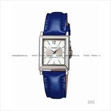CASIO LTP-1378L-2E STANDARD Analog classic square leather strap blue
