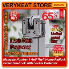 NO 1 Anti Theft Home Padlock Protection - Lock With Locker Protector
