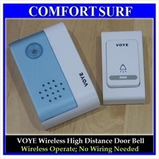 Wireless VOYE 38 Tune Songs Security High Distance Doorbell Door Bell